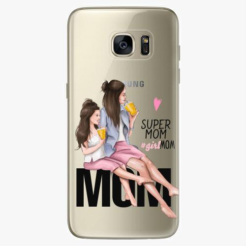 Silikonové pouzdro iSaprio - Milk Shake / Brunette na mobil Samsung Galaxy S7 Edge