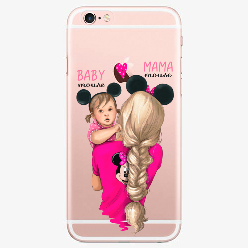 Silikonové pouzdro iSaprio - Mama Mouse Blond and Girl na mobil Apple iPhone 7