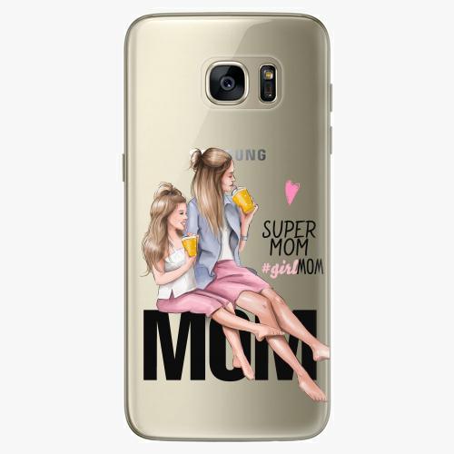 Silikonové pouzdro iSaprio - Milk Shake / Blond na mobil Samsung Galaxy S7 Edge