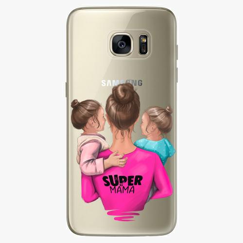 Silikonové pouzdro iSaprio - Super Mama na mobil Two Girls na mobil Samsung Galaxy S7 Edge