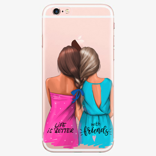 Silikonové pouzdro iSaprio - Best Friends na mobil Apple iPhone 7