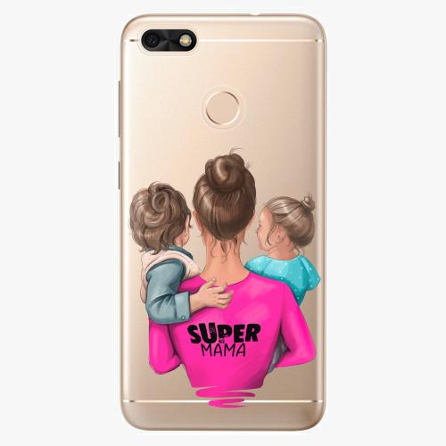 Silikonové pouzdro iSaprio - Super Mama na mobil Boy and Girl na mobil Huawei P9 Lite Mini