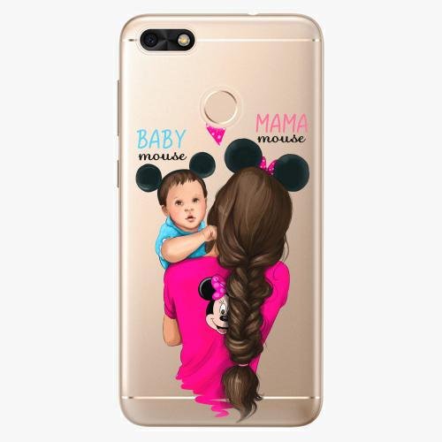 Silikonové pouzdro iSaprio - Mama Mouse Brunette and Boy na mobil Huawei P9 Lite Mini