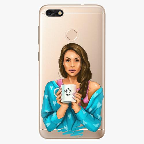 Silikonové pouzdro iSaprio - Coffe Now / Brunette na mobil Huawei P9 Lite Mini