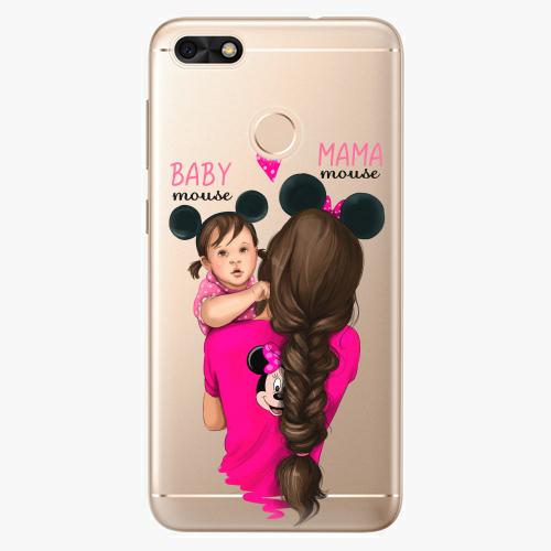 Silikonové pouzdro iSaprio - Mama Mouse Brunette and Girl na mobil Huawei P9 Lite Mini