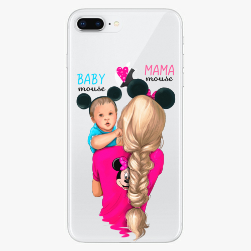 Silikonové pouzdro iSaprio - Mama Mouse Blonde and Boy na mobil Apple iPhone 8 Plus