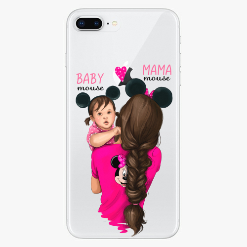 Silikonové pouzdro iSaprio - Mama Mouse Brunette and Girl na mobil Apple iPhone 8 Plus