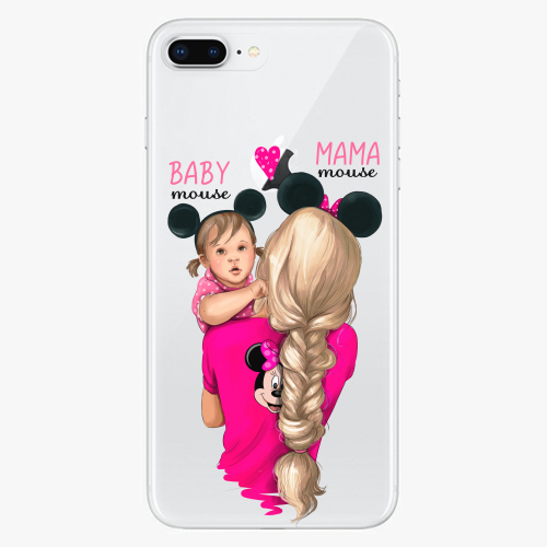 Silikonové pouzdro iSaprio - Mama Mouse Blond and Girl na mobil Apple iPhone 8 Plus