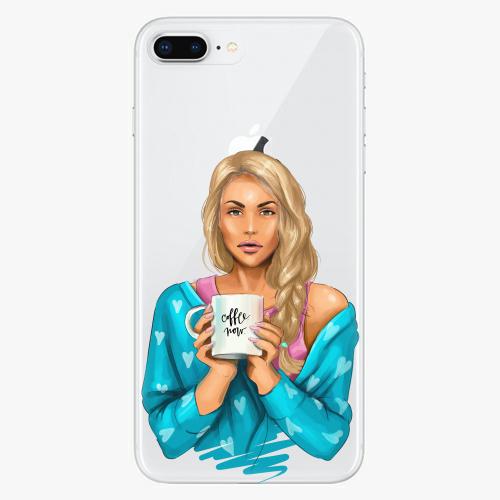 Silikonové pouzdro iSaprio - Coffe Now / Blond na mobil Apple iPhone 8 Plus