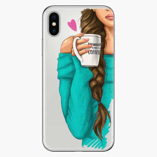 Silikonové pouzdro iSaprio - My Coffe and Brunette Girl na mobil Apple iPhone X