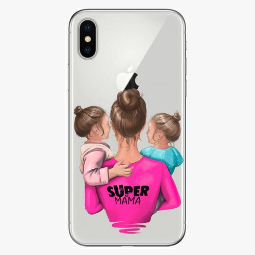 Silikonové pouzdro iSaprio - Super Mama na mobil Two Girls na mobil Apple iPhone X