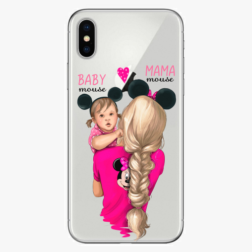 Silikonové pouzdro iSaprio - Mama Mouse Blond and Girl na mobil Apple iPhone X