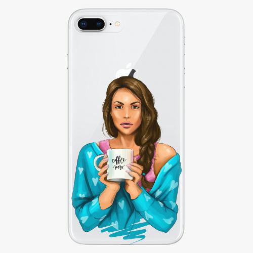 Silikonové pouzdro iSaprio - Coffe Now / Brunette na mobil Apple iPhone 8 Plus