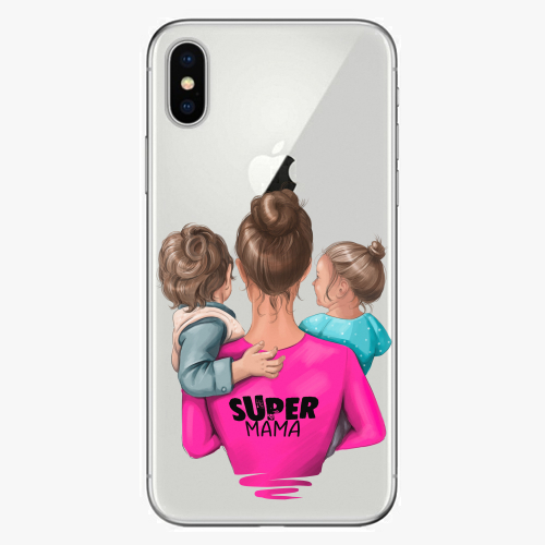 Silikonové pouzdro iSaprio - Super Mama na mobil Boy and Girl na mobil Apple iPhone X