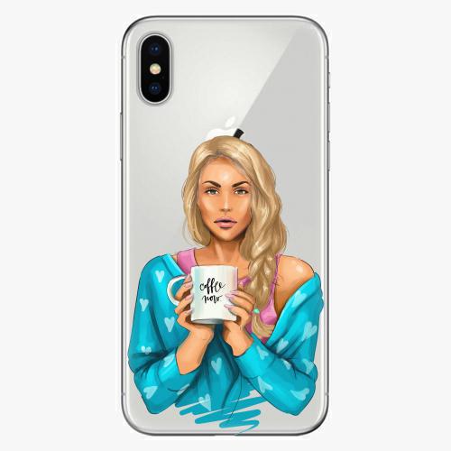 Silikonové pouzdro iSaprio - Coffe Now / Blond na mobil Apple iPhone X