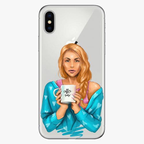 Silikonové pouzdro iSaprio - Coffe Now / Redhead na mobil Apple iPhone X