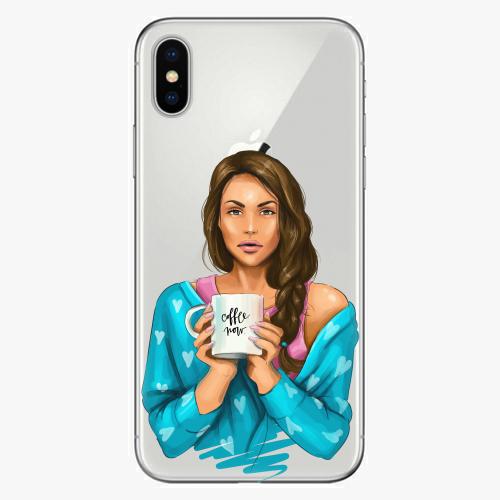 Silikonové pouzdro iSaprio - Coffe Now / Brunette na mobil Apple iPhone X