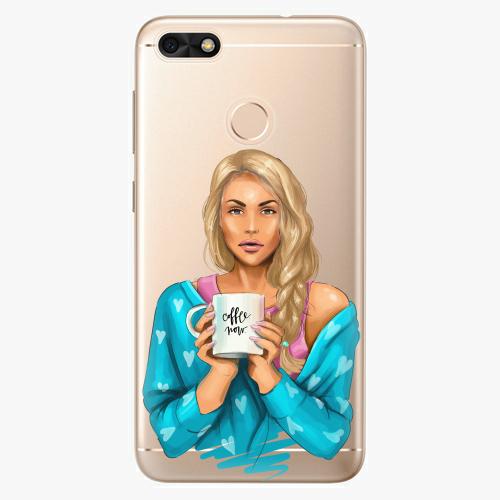 Silikonové pouzdro iSaprio - Coffe Now / Blond na mobil Huawei P9 Lite Mini