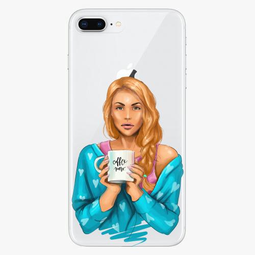 Silikonové pouzdro iSaprio - Coffe Now / Redhead na mobil Apple iPhone 8 Plus
