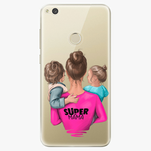 Silikonové pouzdro iSaprio - Super Mama na mobil Boy and Girl na mobil Huawei P9 Lite 2017