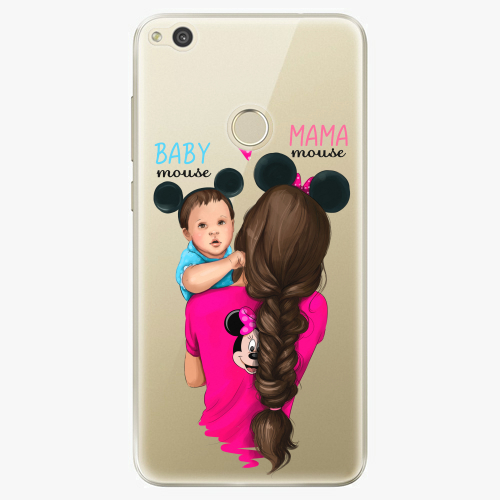 Silikonové pouzdro iSaprio - Mama Mouse Brunette and Boy na mobil Huawei P9 Lite 2017