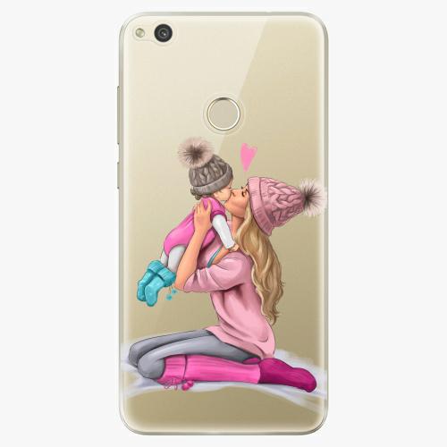 Silikonové pouzdro iSaprio - Kissing Mom / Blond and Girl na mobil Huawei P9 Lite 2017
