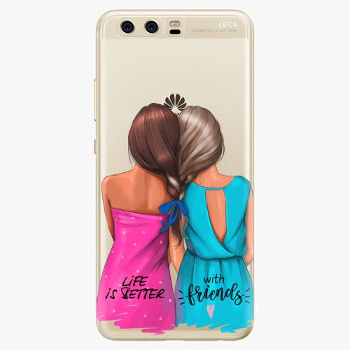 Silikonové pouzdro iSaprio - Best Friends na mobil Huawei P10