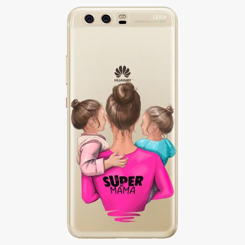 Silikonové pouzdro iSaprio - Super Mama na mobil Two Girls na mobil Huawei P10