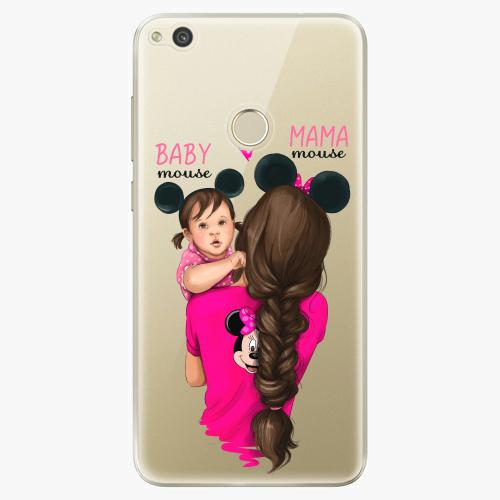 Silikonové pouzdro iSaprio - Mama Mouse Brunette and Girl na mobil Huawei P9 Lite 2017