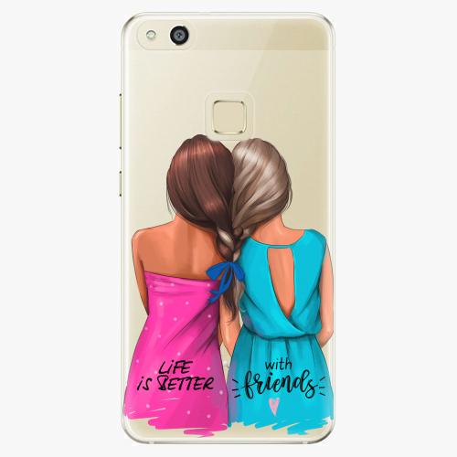 Silikonové pouzdro iSaprio - Best Friends na mobil Huawei P10 Lite