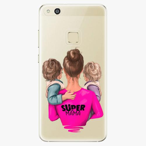 Silikonové pouzdro iSaprio - Super Mama na mobil Two Boys na mobil Huawei P10 Lite