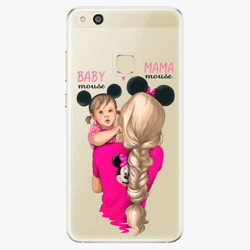 Silikonové pouzdro iSaprio - Mama Mouse Blond and Girl na mobil Huawei P10 Lite