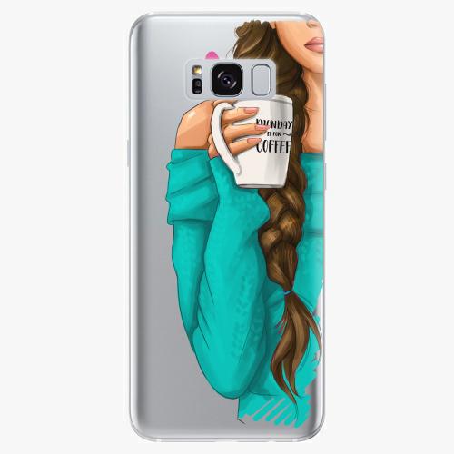 Silikonové pouzdro iSaprio - My Coffe and Brunette Girl na mobil Samsung Galaxy S8