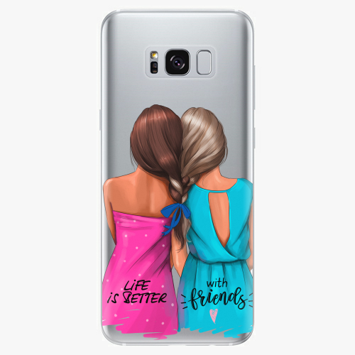 Silikonové pouzdro iSaprio - Best Friends na mobil Samsung Galaxy S8