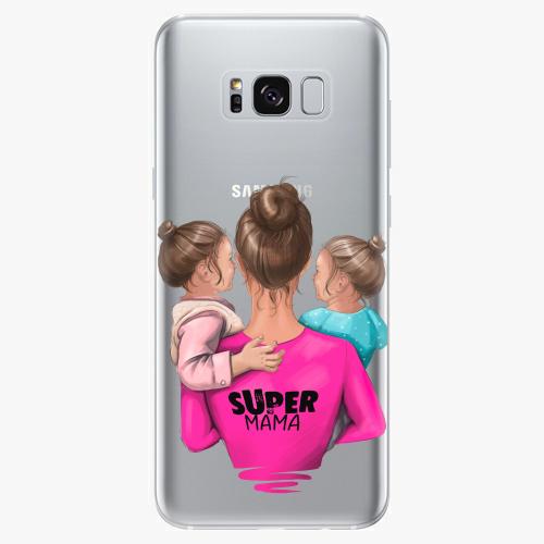 Silikonové pouzdro iSaprio - Super Mama na mobil Two Girls na mobil Samsung Galaxy S8