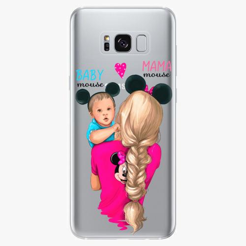Silikonové pouzdro iSaprio - Mama Mouse Blonde and Boy na mobil Samsung Galaxy S8