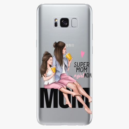 Silikonové pouzdro iSaprio - Milk Shake / Brunette na mobil Samsung Galaxy S8