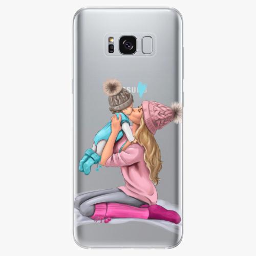 Silikonové pouzdro iSaprio - Kissing Mom / Blond and Boy na mobil Samsung Galaxy S8