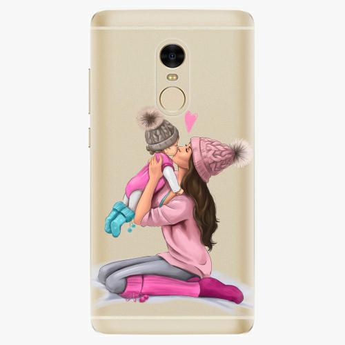 Silikonové pouzdro iSaprio - Kissing Mom / Brunette and Girl na mobil Xiaomi Redmi Note 4 - poslední kus za tuto cenu