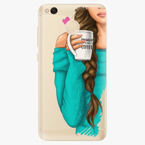 Silikonové pouzdro iSaprio - My Coffe and Brunette Girl na mobil Xiaomi Redmi 4X