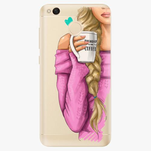 Silikonové pouzdro iSaprio - My Coffe and Blond Girl na mobil Xiaomi Redmi 4X
