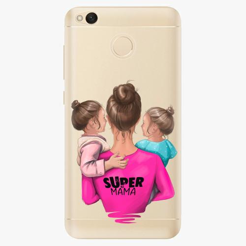 Silikonové pouzdro iSaprio - Super Mama na mobil Two Girls na mobil Xiaomi Redmi 4X