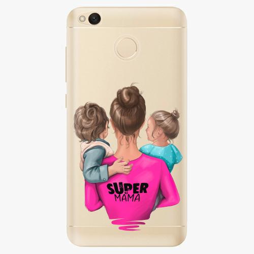 Silikonové pouzdro iSaprio - Super Mama na mobil Boy and Girl na mobil Xiaomi Redmi 4X