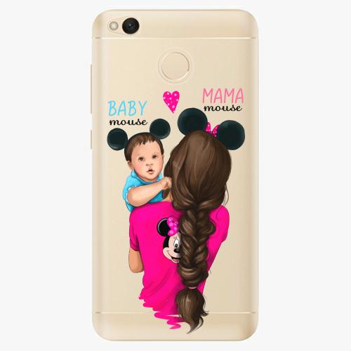 Silikonové pouzdro iSaprio - Mama Mouse Brunette and Boy na mobil Xiaomi Redmi 4X