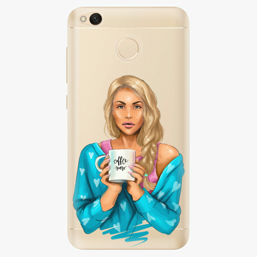 Silikonové pouzdro iSaprio - Coffe Now / Blond na mobil Xiaomi Redmi 4X