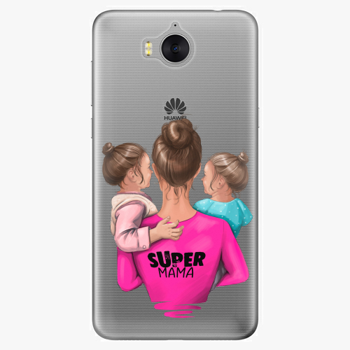 Silikonové pouzdro iSaprio - Super Mama na mobil Two Girls na mobil Huawei Y6 2017