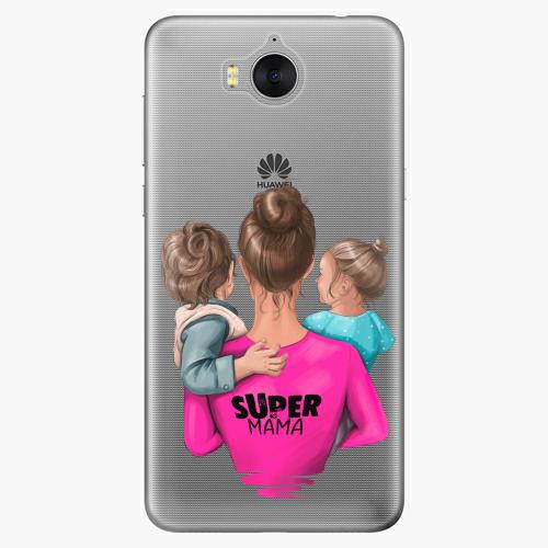 Silikonové pouzdro iSaprio - Super Mama na mobil Boy and Girl na mobil Huawei Y6 2017