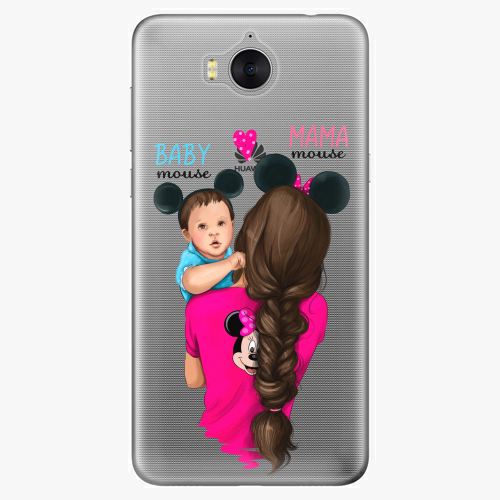 Silikonové pouzdro iSaprio - Mama Mouse Brunette and Boy na mobil Huawei Y6 2017