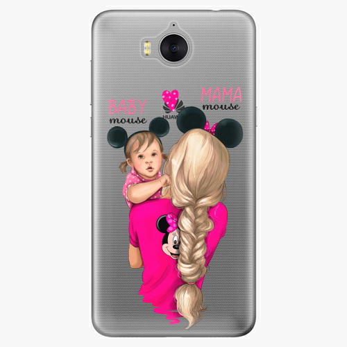Silikonové pouzdro iSaprio - Mama Mouse Blond and Girl na mobil Huawei Y6 2017