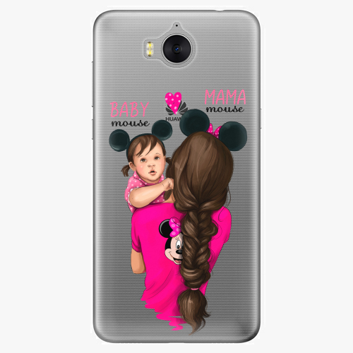 Silikonové pouzdro iSaprio - Mama Mouse Brunette and Girl na mobil Huawei Y6 2017